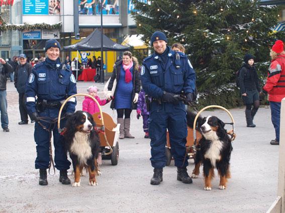 poliisikoirat Donna ja Saska